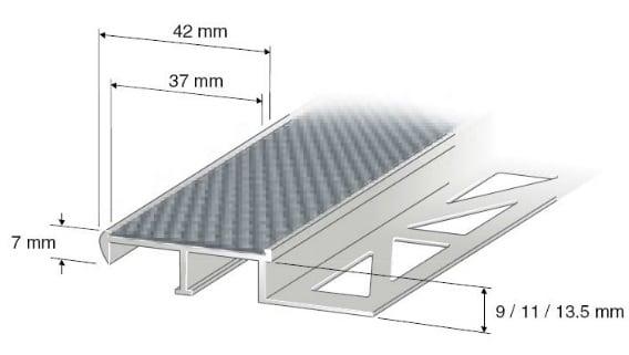 trappeneser aluminium for fliser